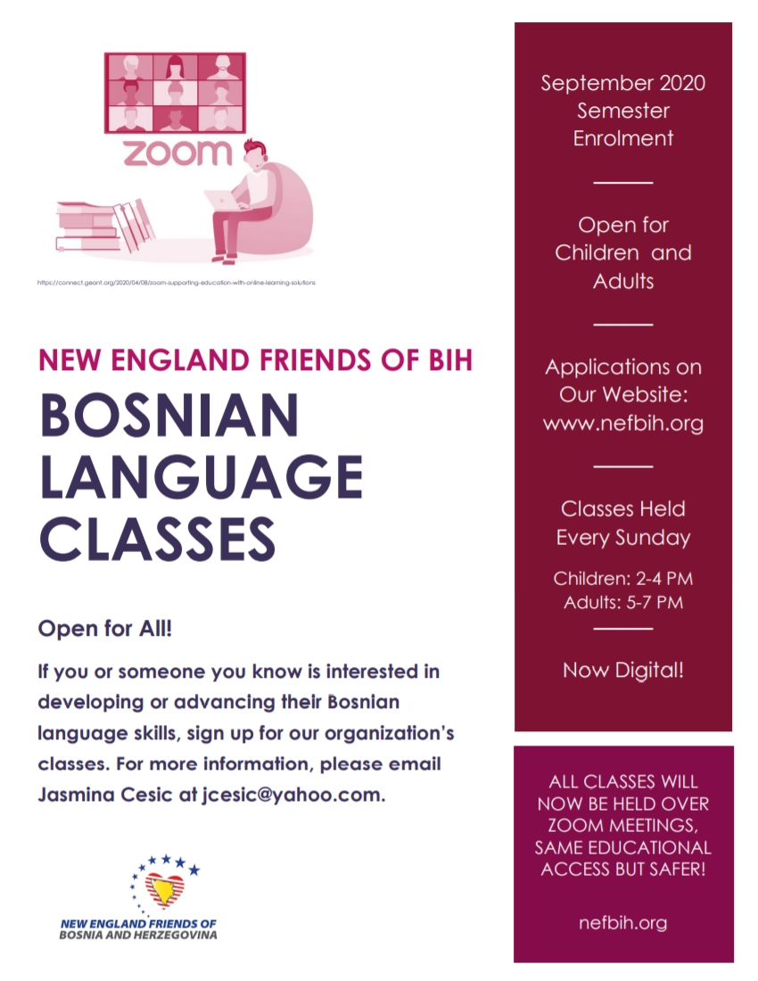 Bosnian Language Classes - September 2020